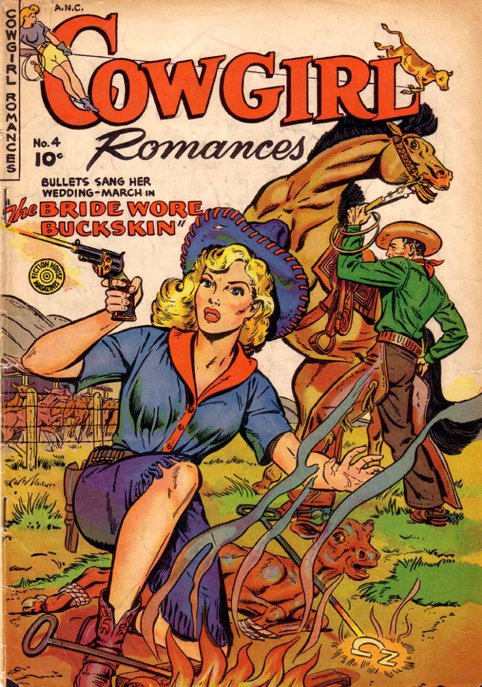 Comic Book Cover For Cowgirl Romances #4
