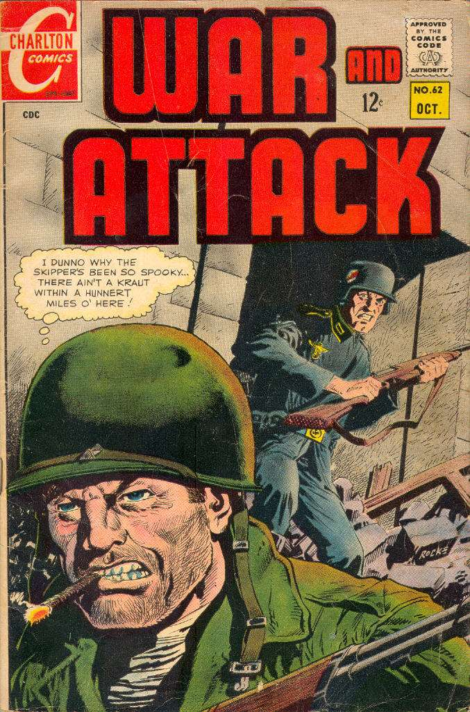 Comic Book Cover For War and Attack #62