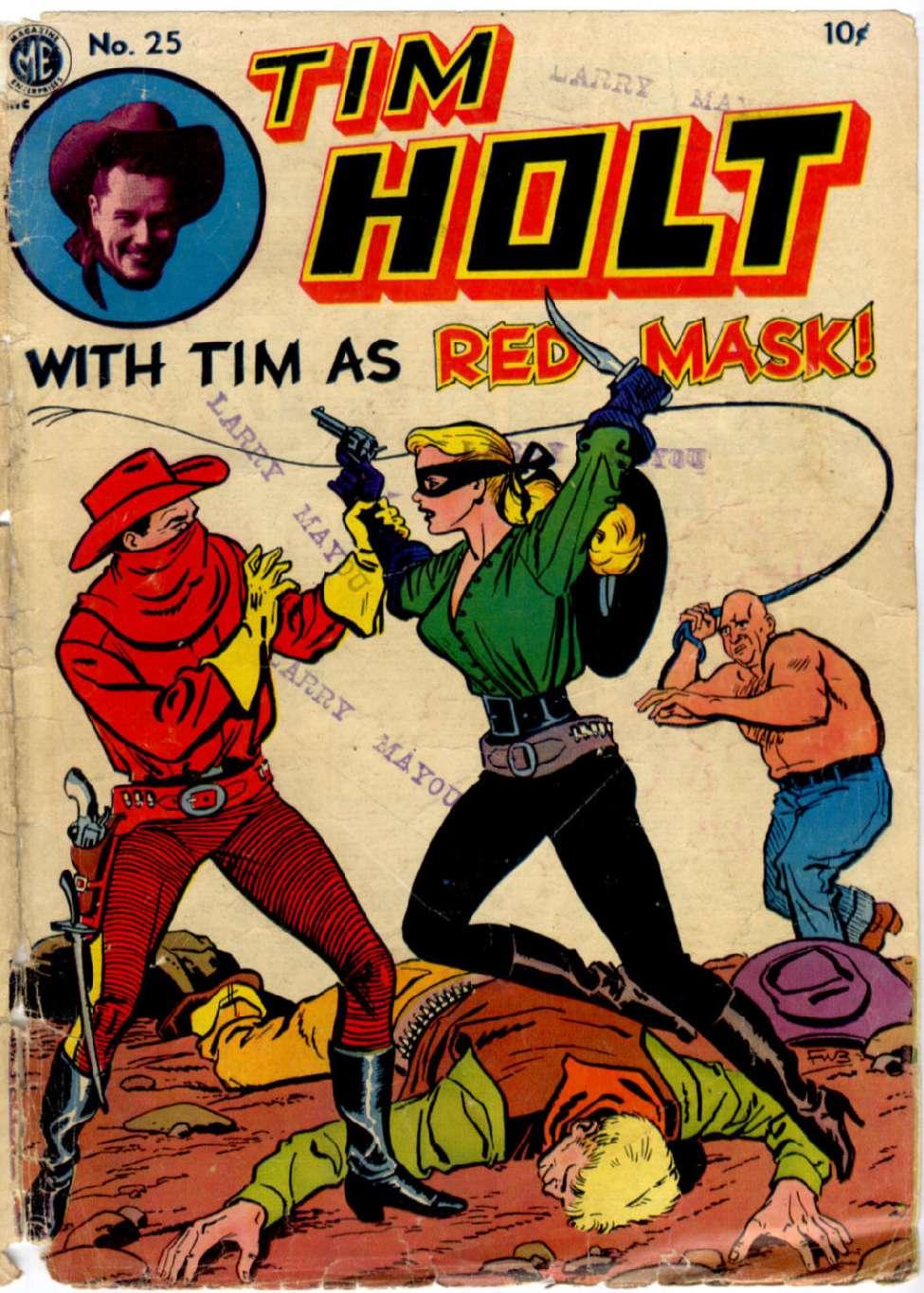 Comic Book Cover For Tim Holt #25