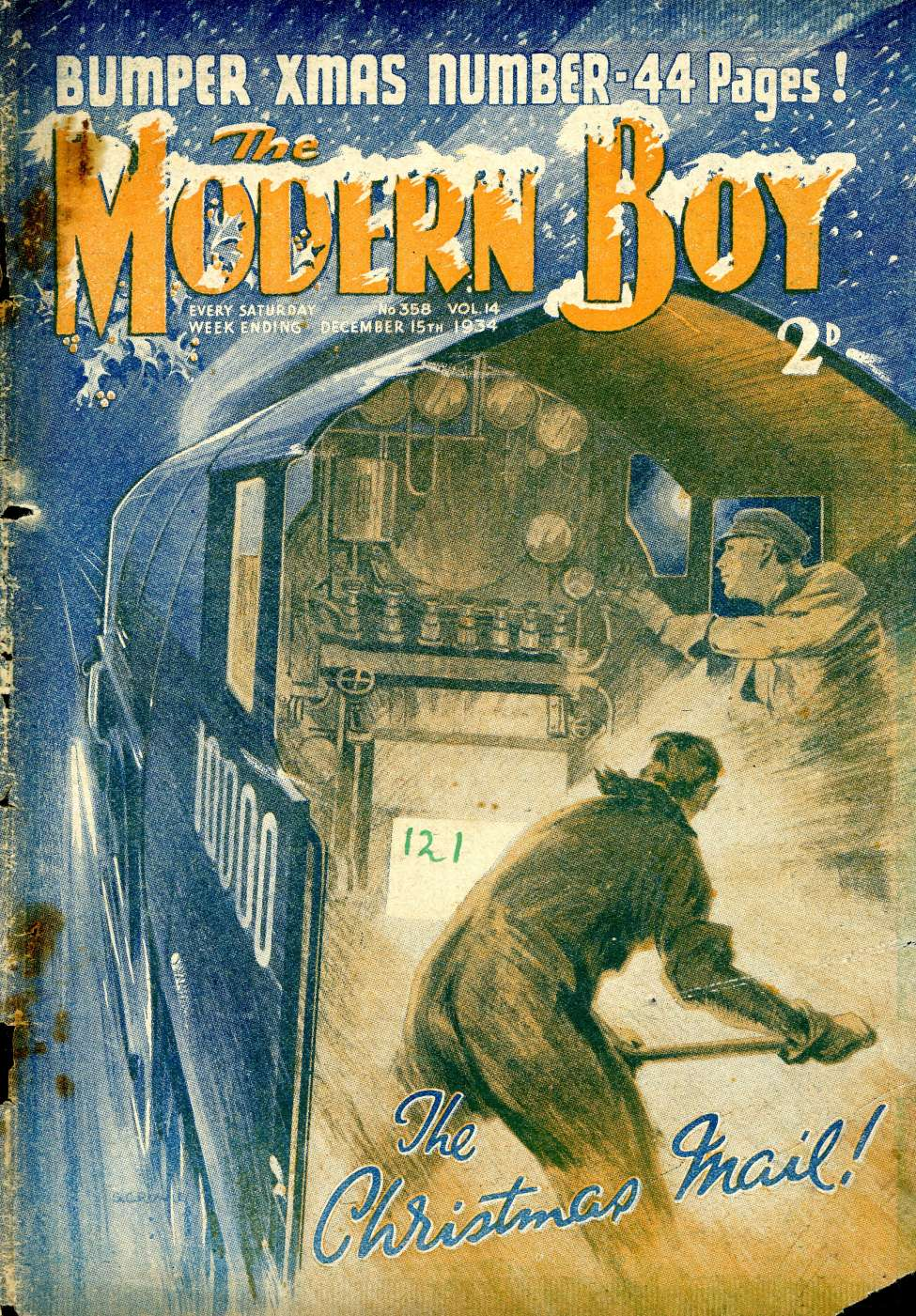 Comic Book Cover For The Modern Boy 358 - The Christmas Mail