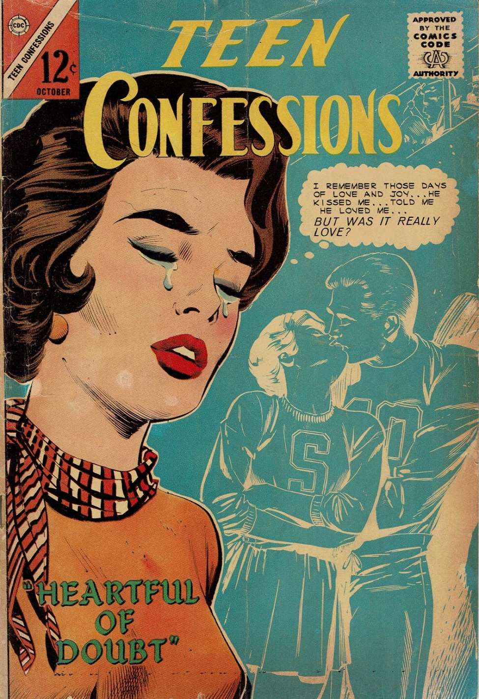 Comic Book Cover For Teen Confessions #30
