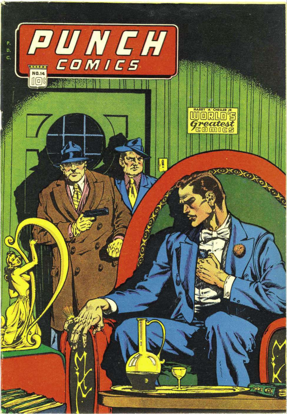 Comic Book Cover For Punch Comics #14