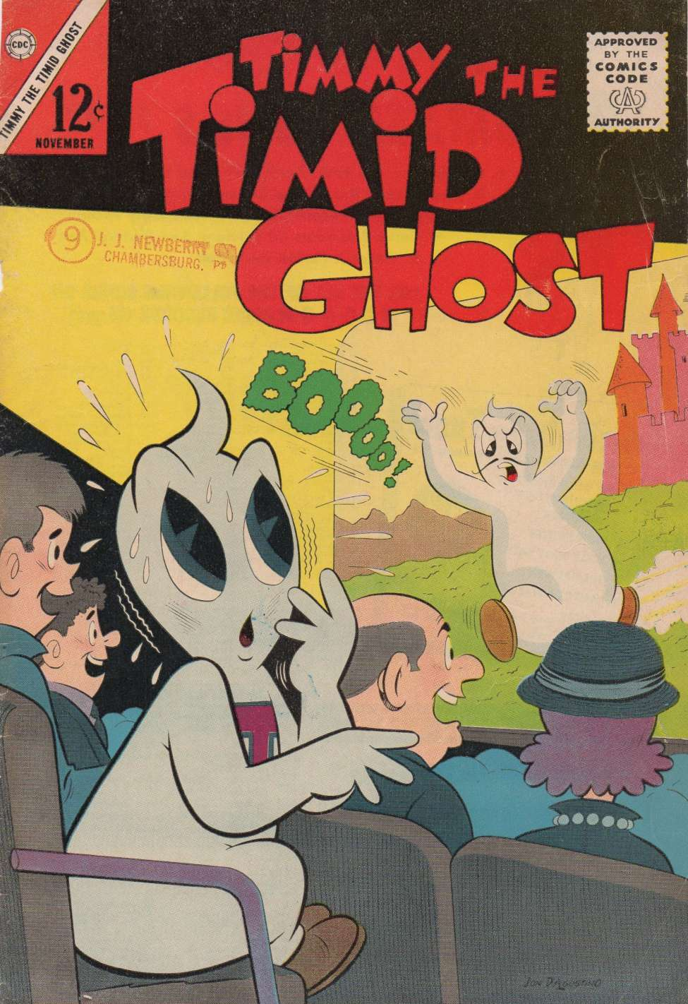 Comic Book Cover For Timmy the Timid Ghost #41