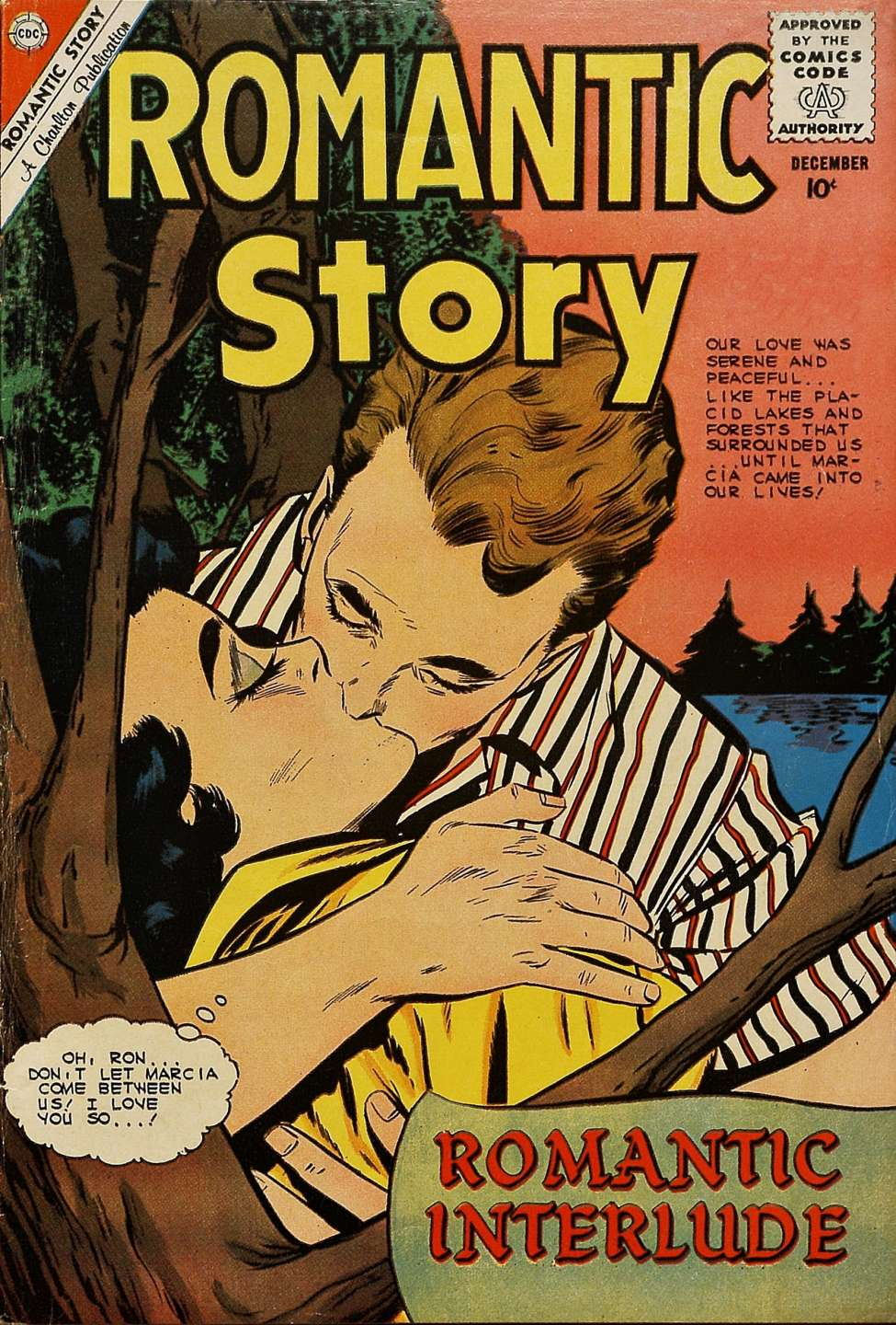 Comic Book Cover For Romantic Story #52