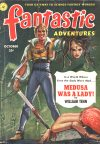 Cover For Fantastic Adventures v13 10 Medusa Was a Lady! William Tenn
