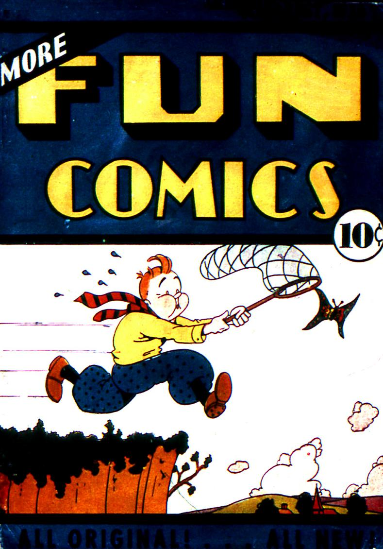 Comic Book Cover For More Fun Comics v1 #12