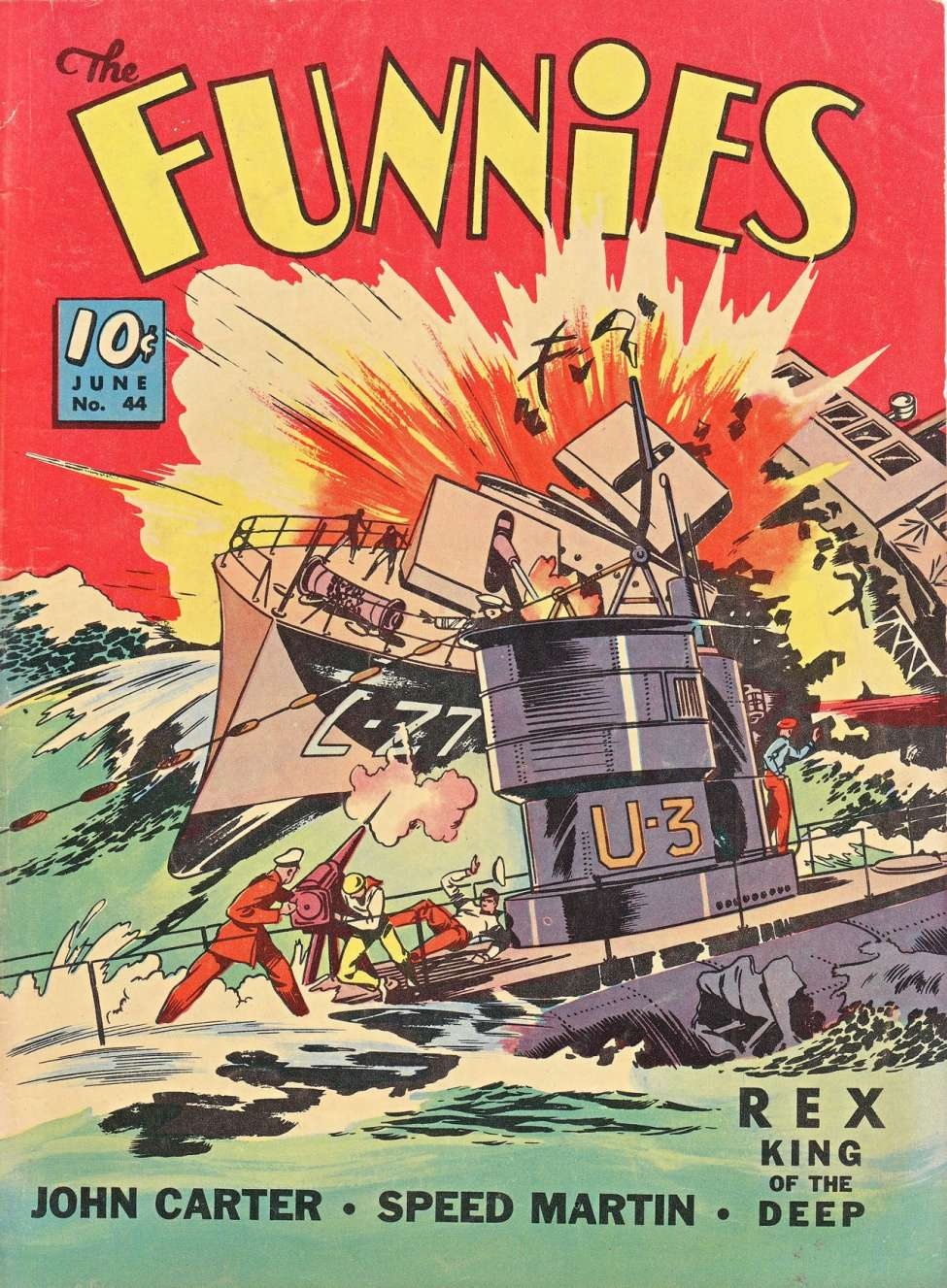 Comic Book Cover For The Funnies #44