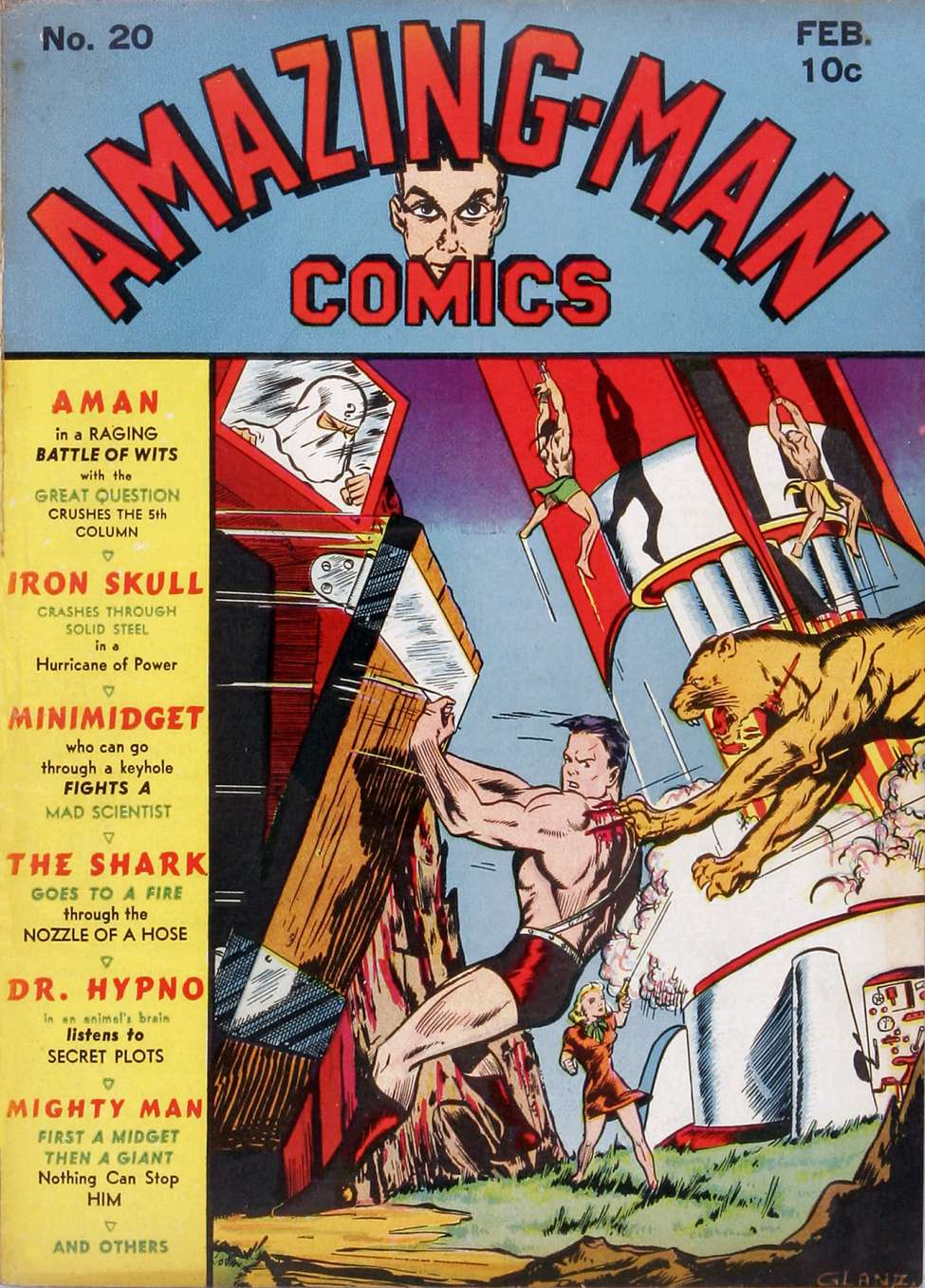 Comic Book Cover For Amazing Man Comics #20