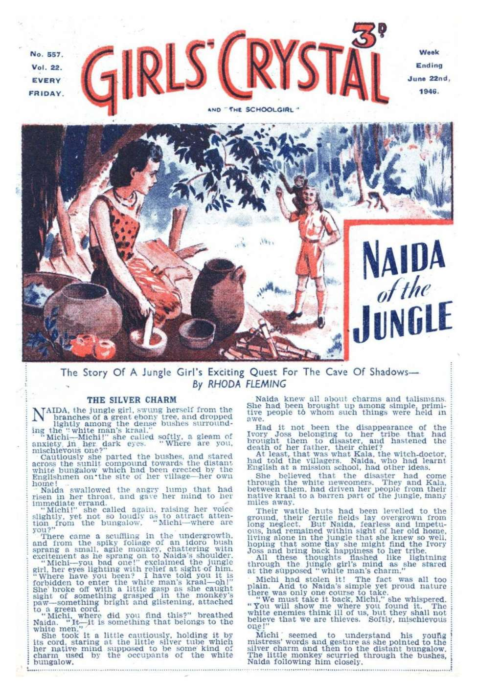 Comic Book Cover For Girls' Crystal 0557 - Naida of the Jungle