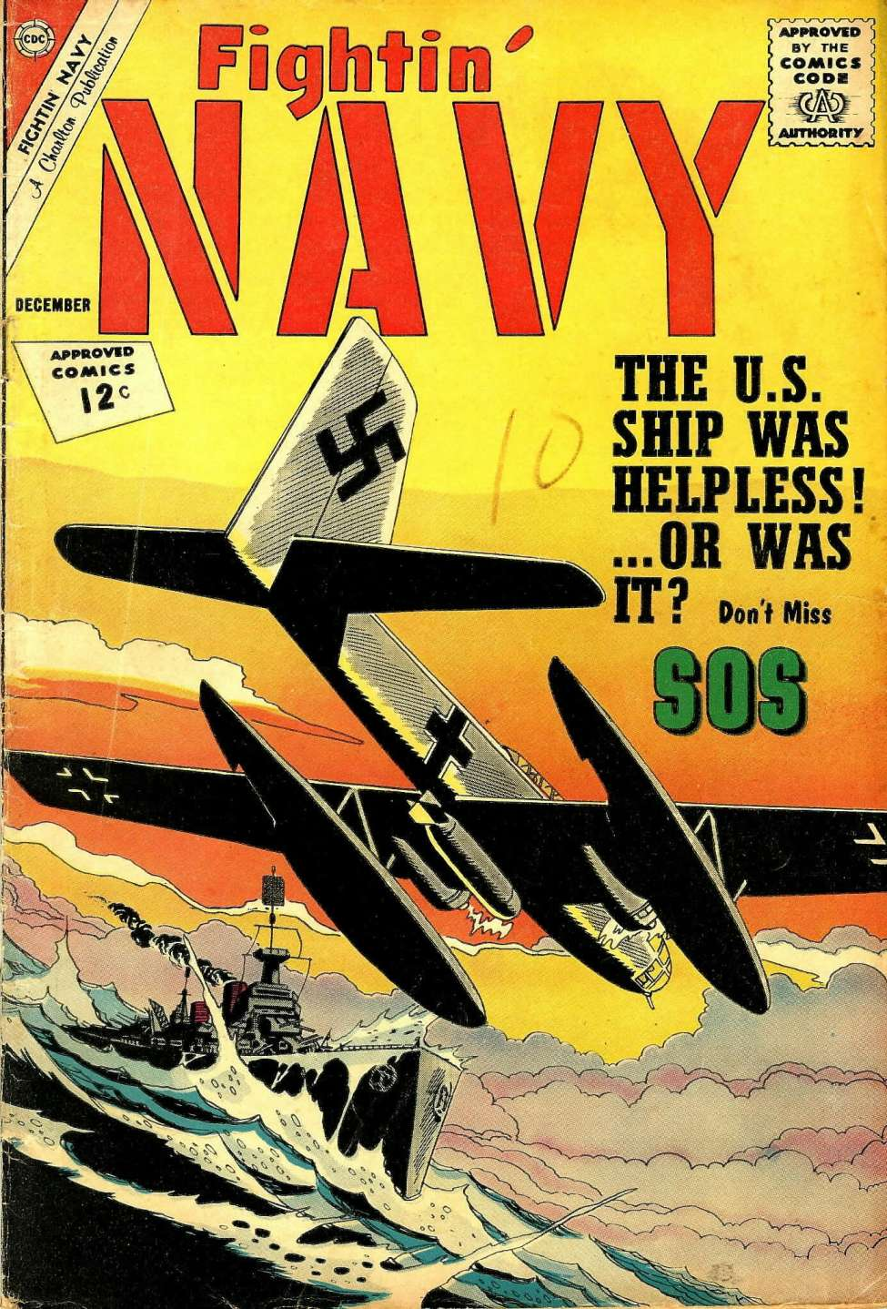 Comic Book Cover For Fightin' Navy #107