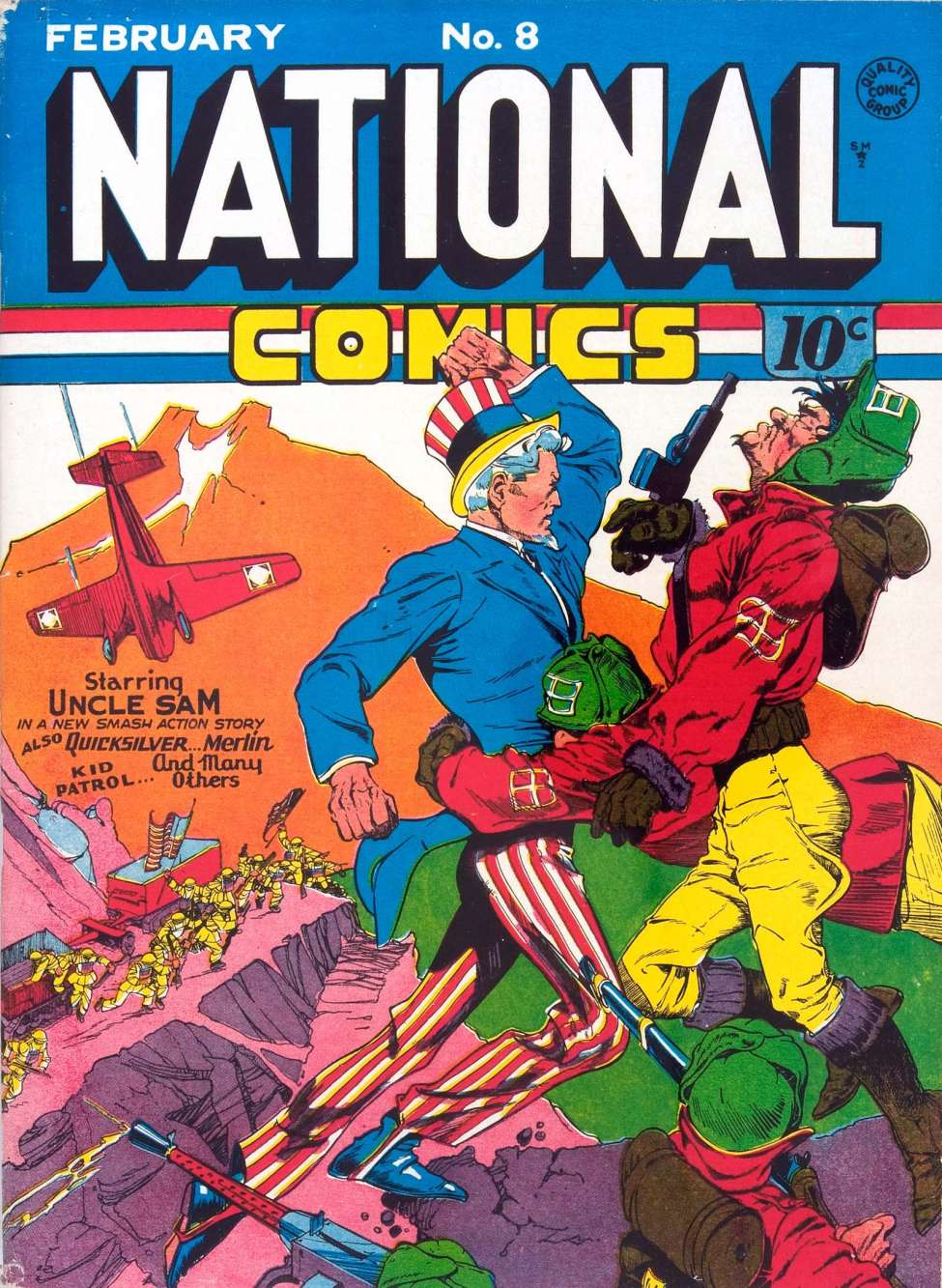 Comic Book Cover For National Comics #8