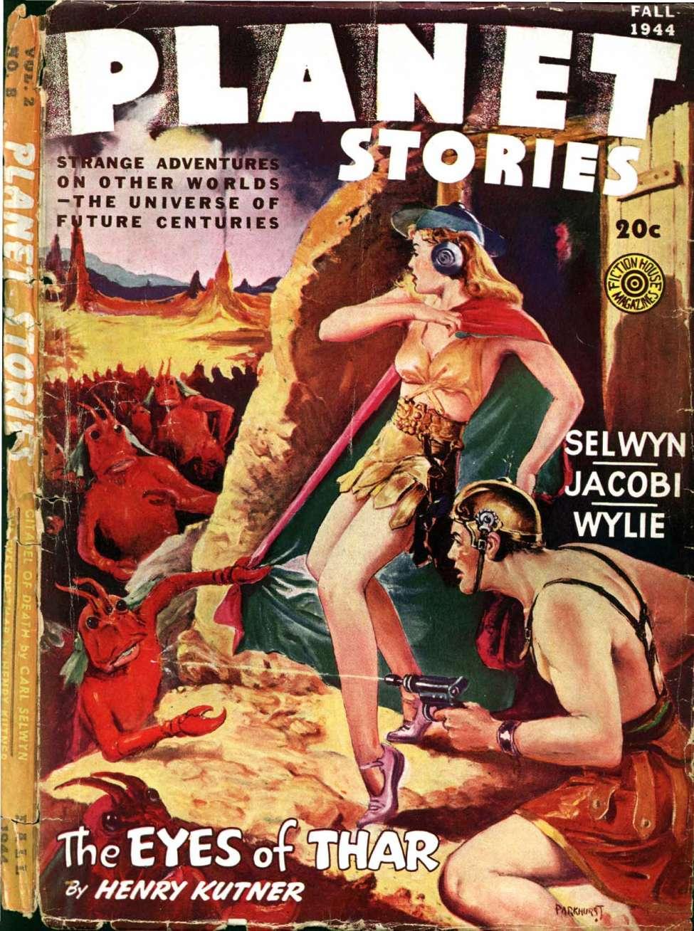 Comic Book Cover For Planet Stories v02 08 - The Eyes of Thar - Henry Kuttner