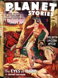 Large Thumbnail For Planet Stories v02 08 - The Eyes of Thar - Henry Kuttner