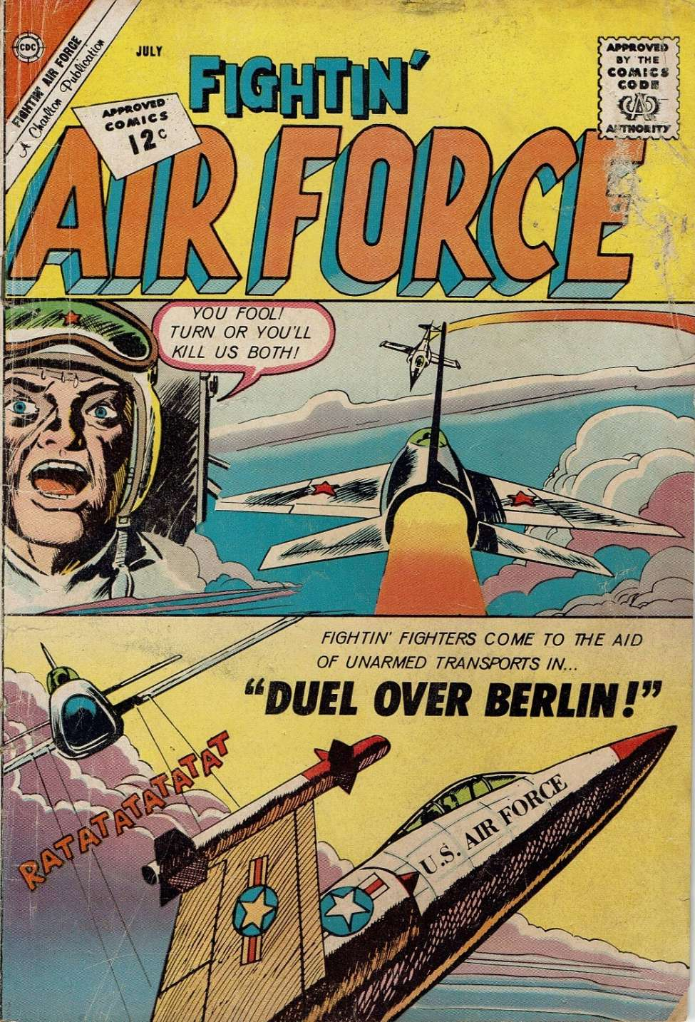 Comic Book Cover For Fightin' Air Force #33