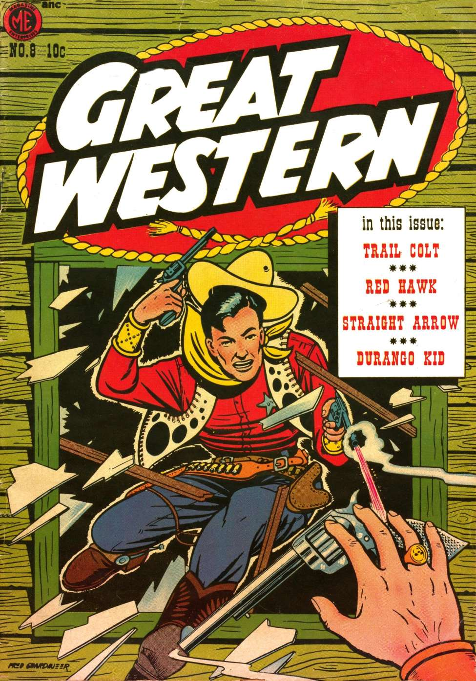 Comic Book Cover For Great Western #8