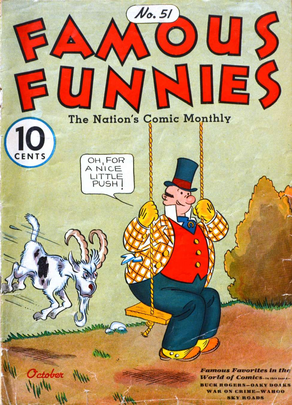 Comic Book Cover For Famous Funnies #51