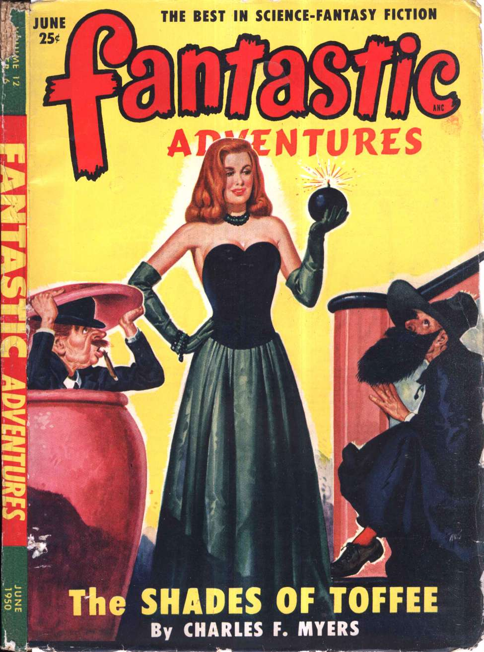 Comic Book Cover For Fantastic Adventures v12 06 - The Shades of Toffee - Charles F. Myers