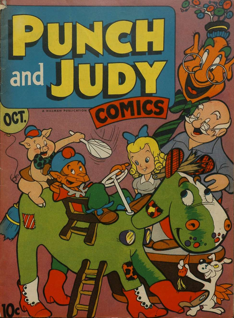 Comic Book Cover For Punch and Judy Comics v2 #3 - Version 1