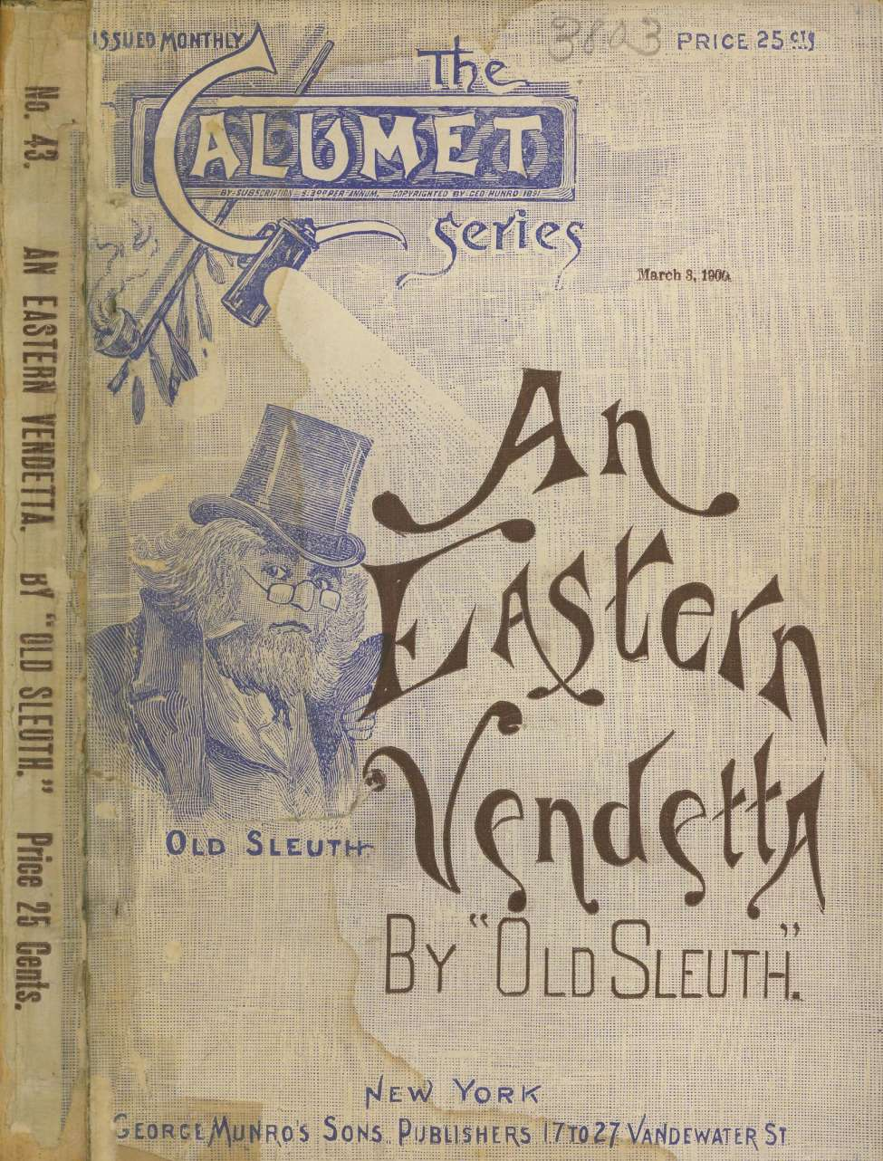 Comic Book Cover For An Eastern Vendetta by Old Sleuth