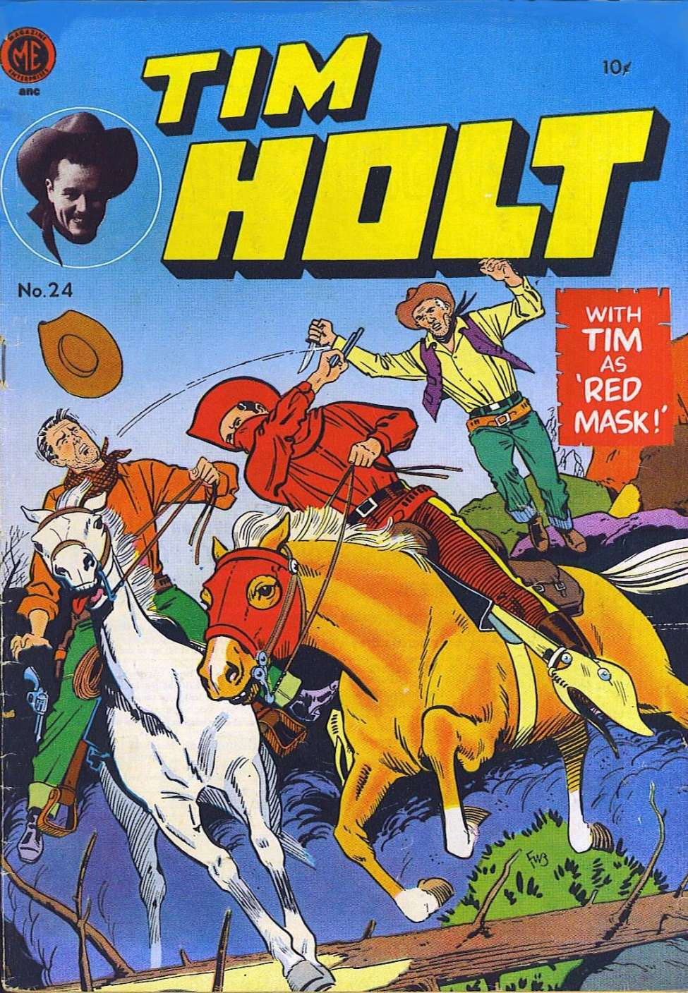 Comic Book Cover For Tim Holt #24