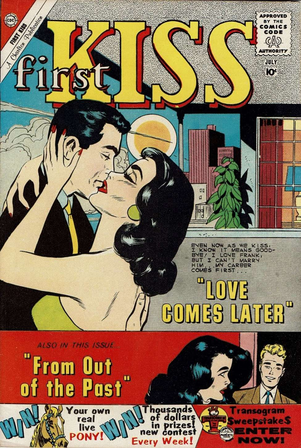Comic Book Cover For First Kiss #15