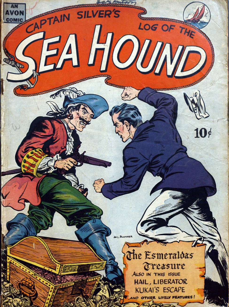 Comic Book Cover For Captain Silver's Log of the Sea Hound (nn) - Version 2