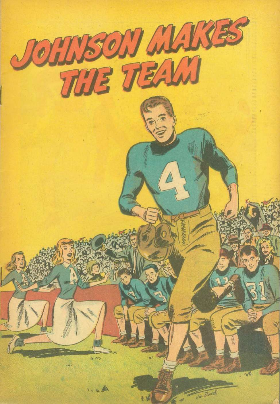 Comic Book Cover For Johnson Makes the Team [nn]