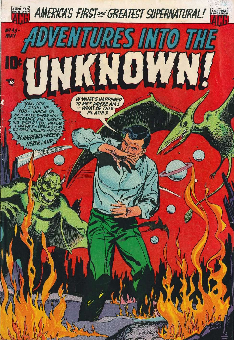 Comic Book Cover For Adventures into the Unknown #43