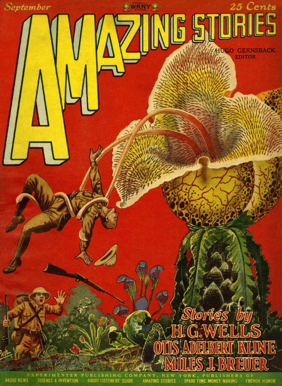 Comic Book Cover For Amazing Stories v02 06 - The Malignant Flower - Anthos