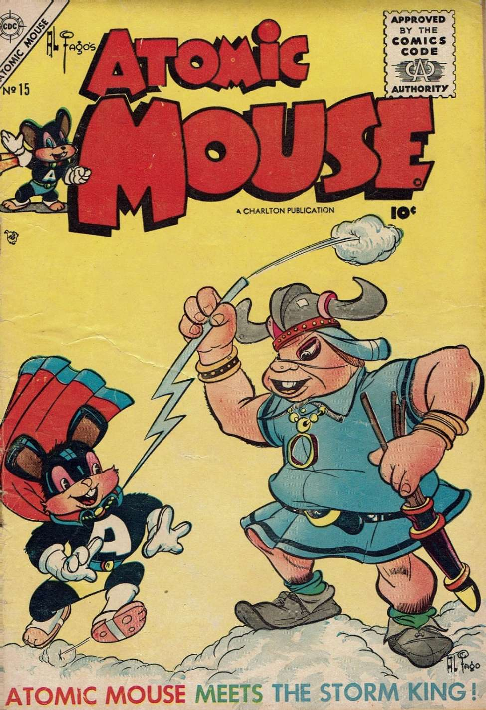 Comic Book Cover For Atomic Mouse #15