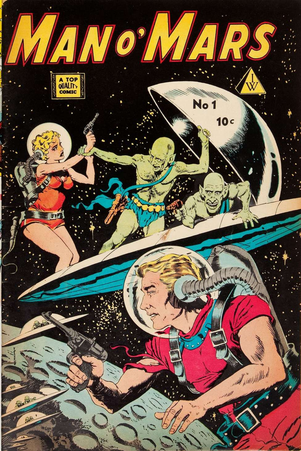 Comic Book Cover For Man O' Mars 1