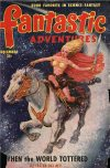 Cover For Fantastic Adventures v12 12 When the World Tottered Lester del Rey