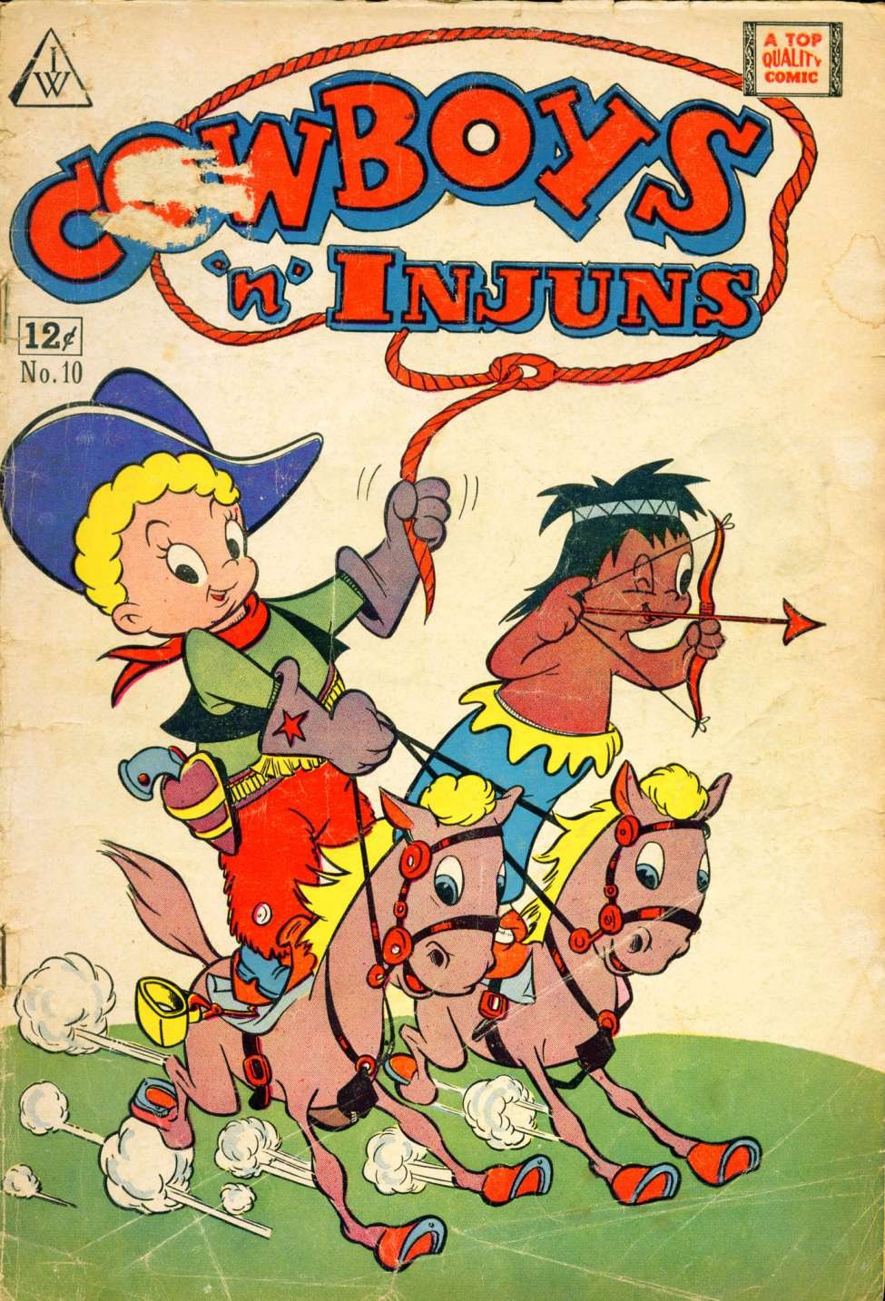 Comic Book Cover For Cowboys 'N' Injuns #10