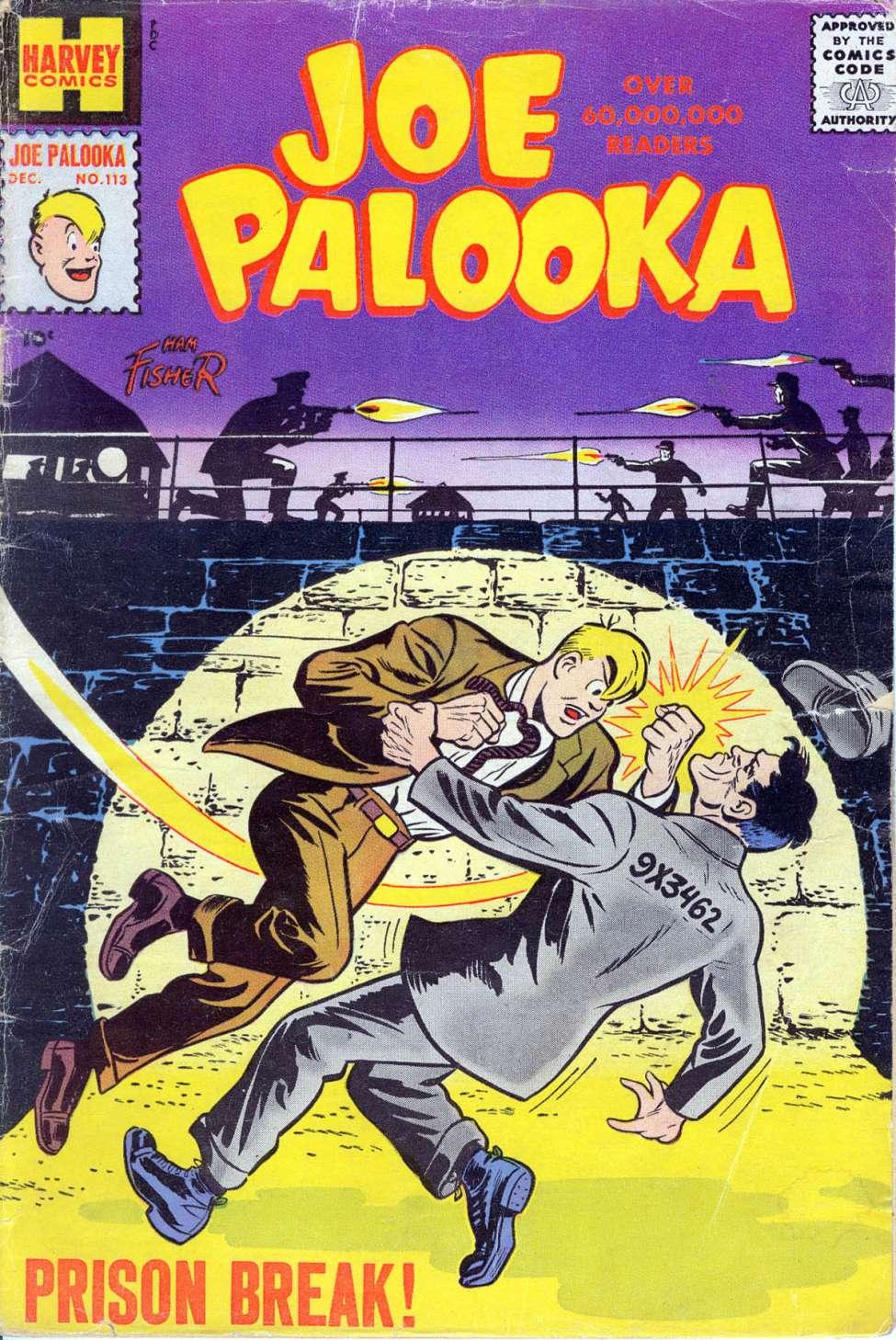 Comic Book Cover For Joe Palooka Comics #113
