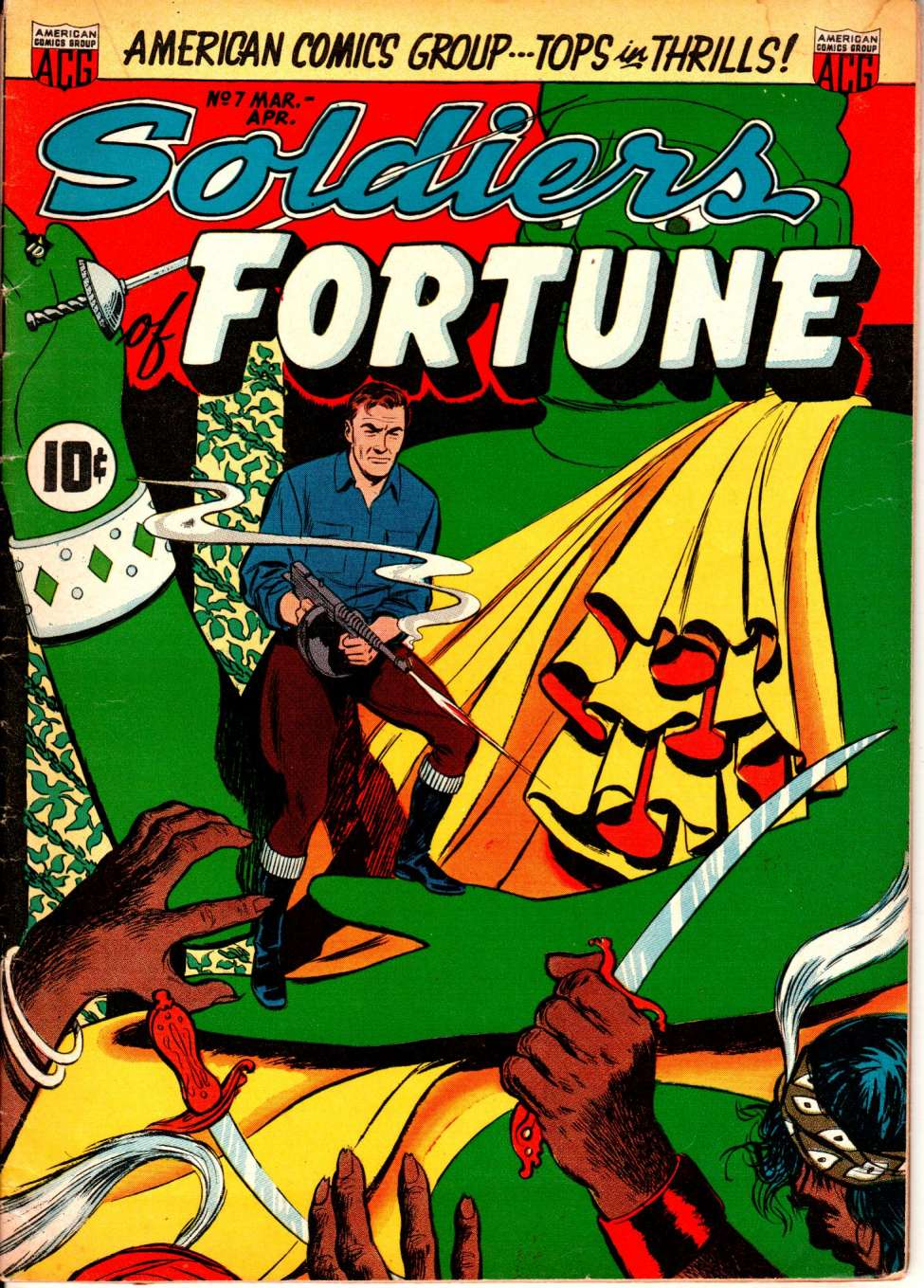 Comic Book Cover For Soldiers of Fortune #7