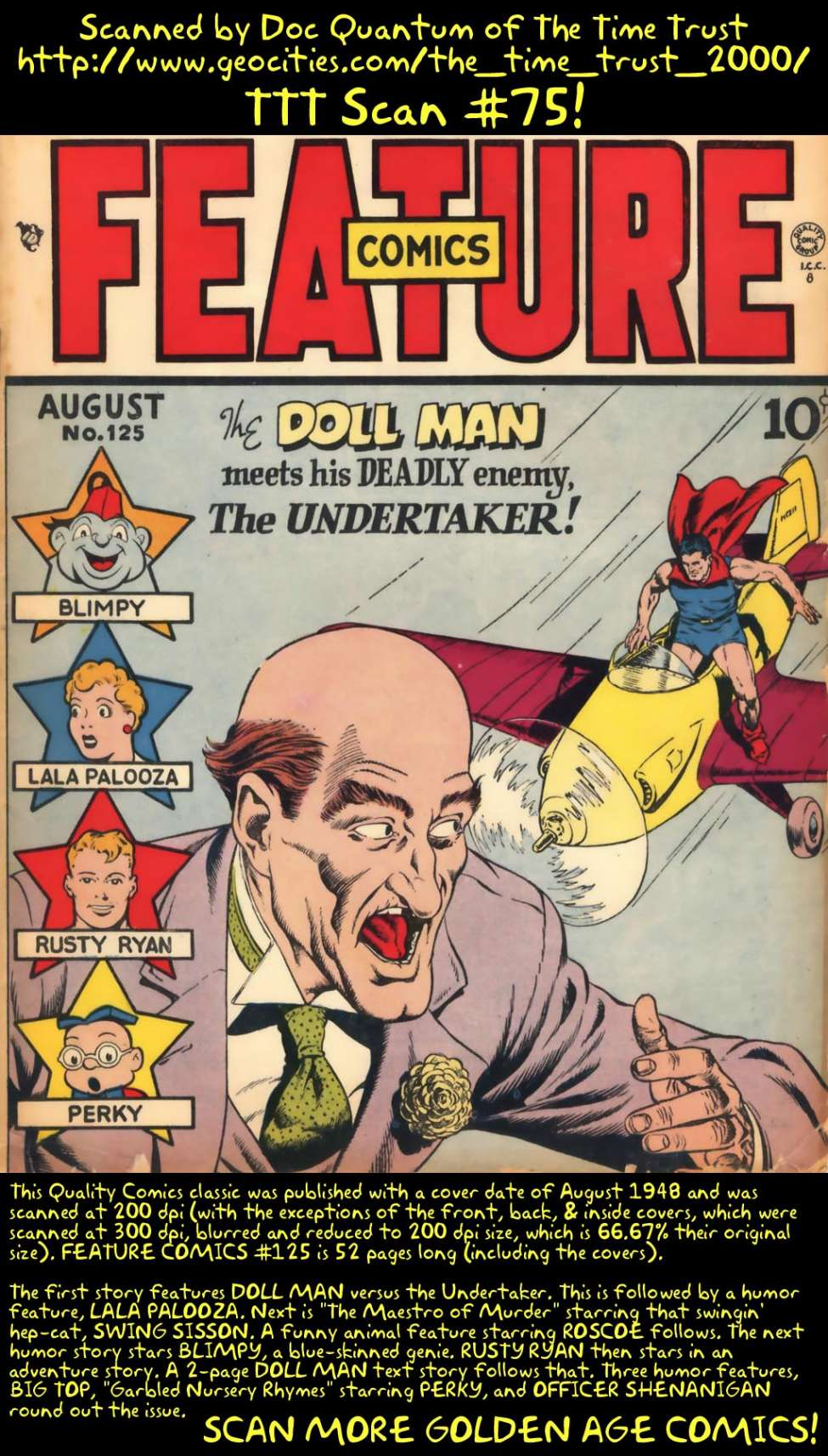 Comic Book Cover For Feature Comics #125