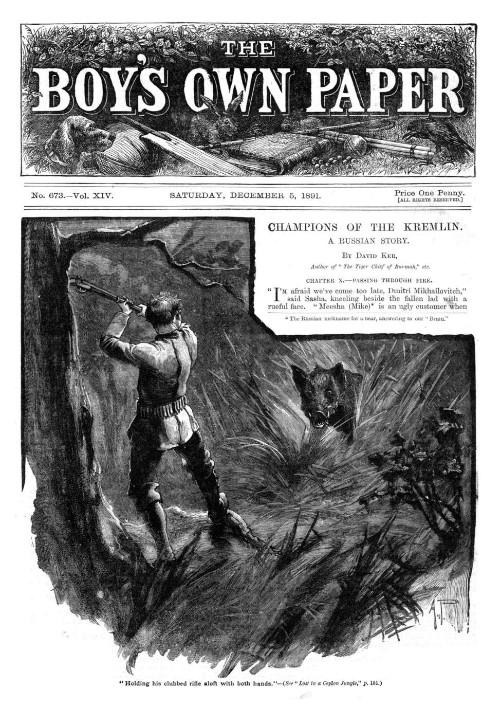 Comic Book Cover For The Boy's Own Paper v14 673