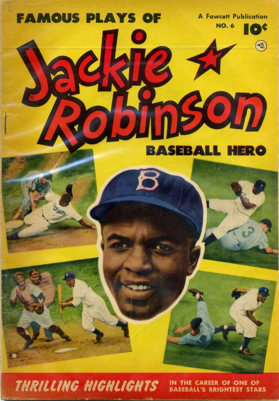 Comic Book Cover For Jackie Robinson #6