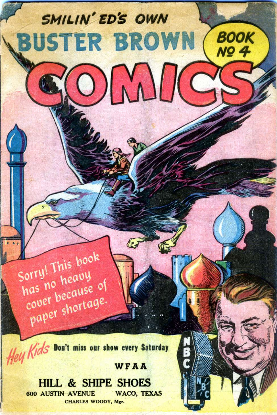 Comic Book Cover For Buster Brown Comic Book #4