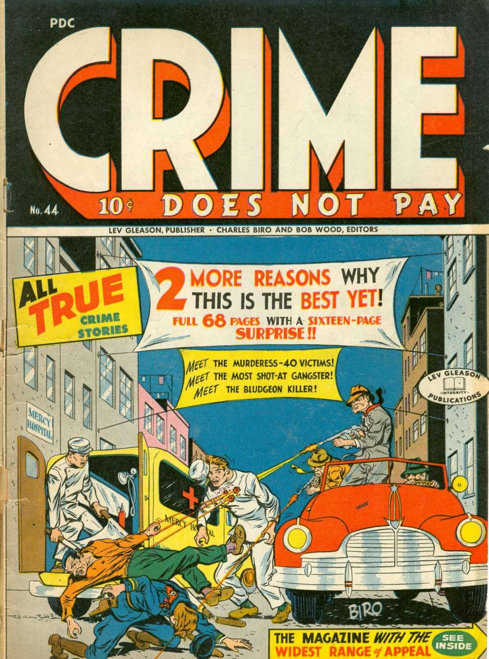 Comic Book Cover For Crime Does Not Pay #44