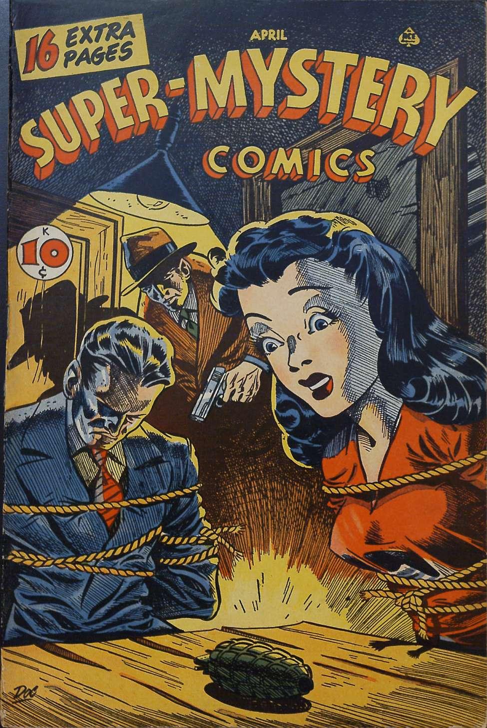 Comic Book Cover For Super-Mystery Comics v6 #5