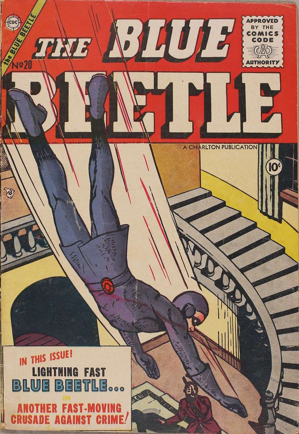 Comic Book Cover For Blue Beetle #20