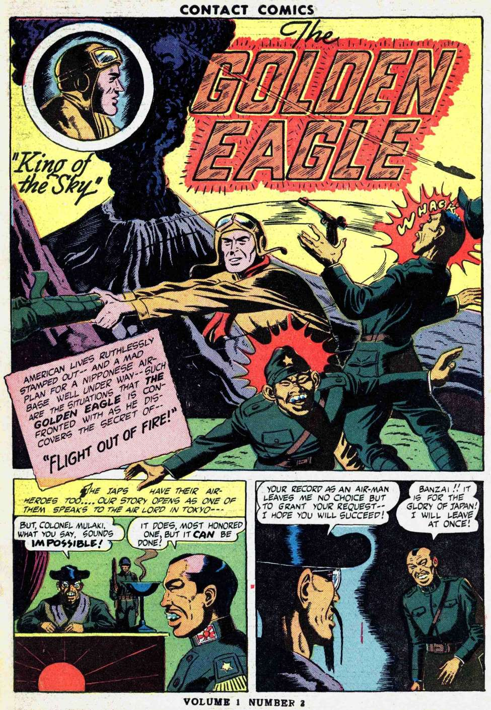 Comic Book Cover For Golden Eagle Archive (Contact Comics)