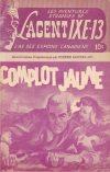 Cover For L'Agent IXE 13 v2 67 Complot jaune