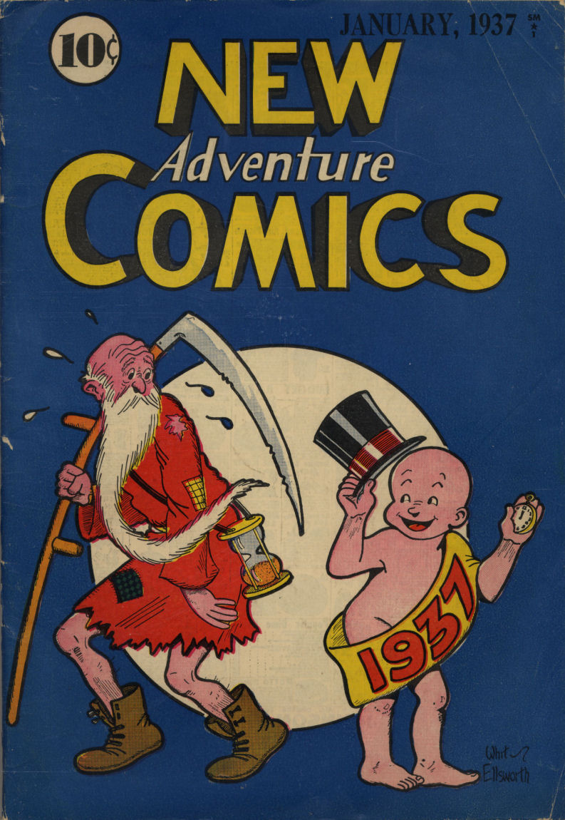 Comic Book Cover For New Adventure Comics #12
