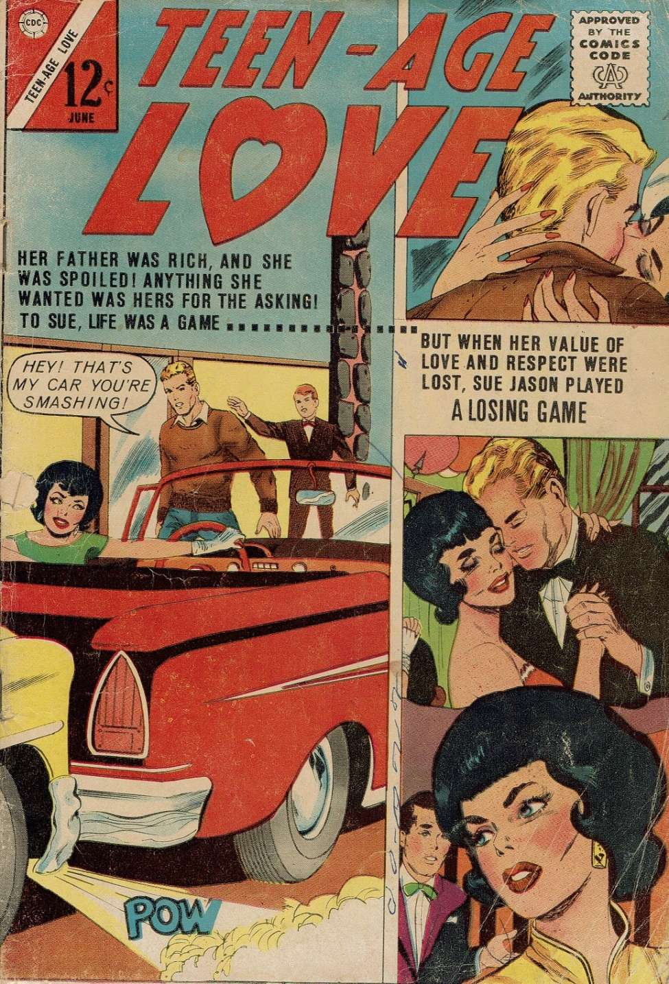 Comic Book Cover For Teen-Age Love #32
