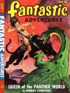 Cover For Fantastic Adventures v10 7 Queen of the Panther World Berkeley Livingston