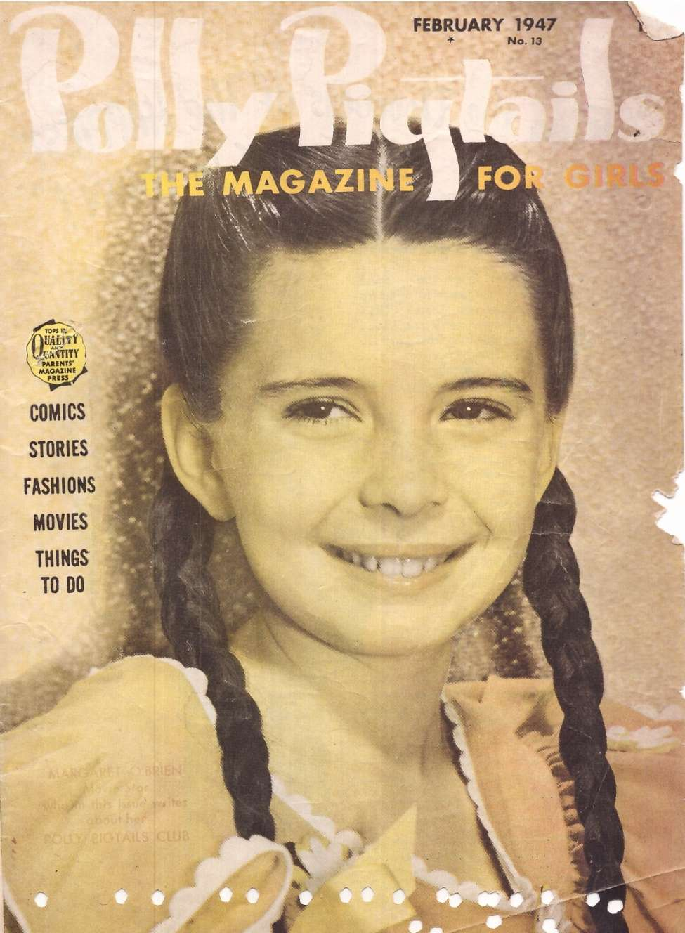 Comic Book Cover For Polly Pigtails #13