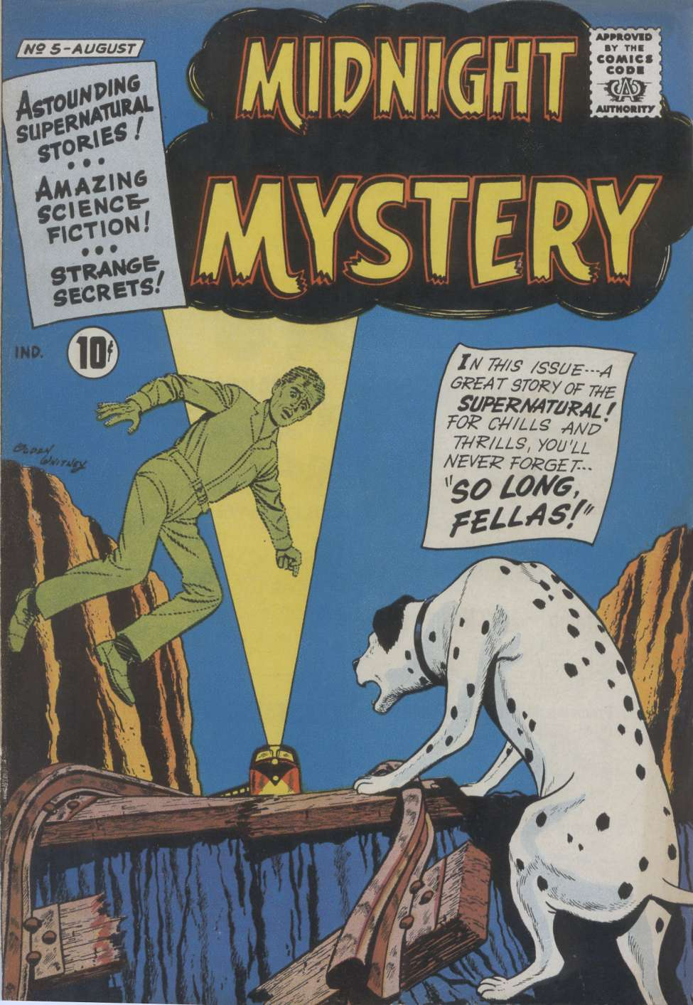 Comic Book Cover For Midnight Mystery #5