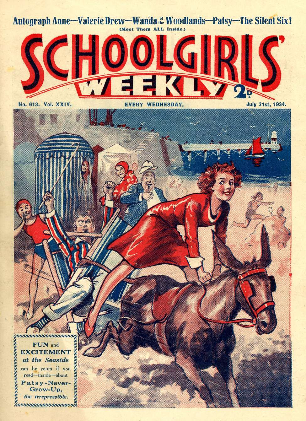 Comic Book Cover For Schoolgirl's Weekly 613